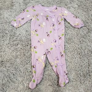 Gymboree One Pieces - Gymboree Purple Footed PJs